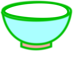 Green bowl clipart.