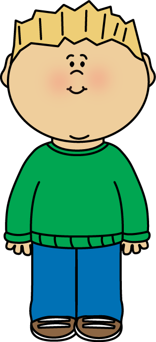Boy Wearing a Sweater Clip Art.