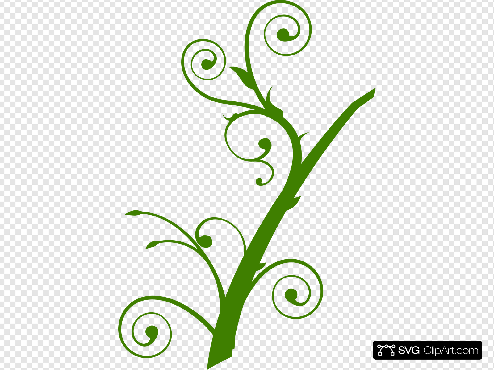 Green Branch Leaves Clip art, Icon and SVG.