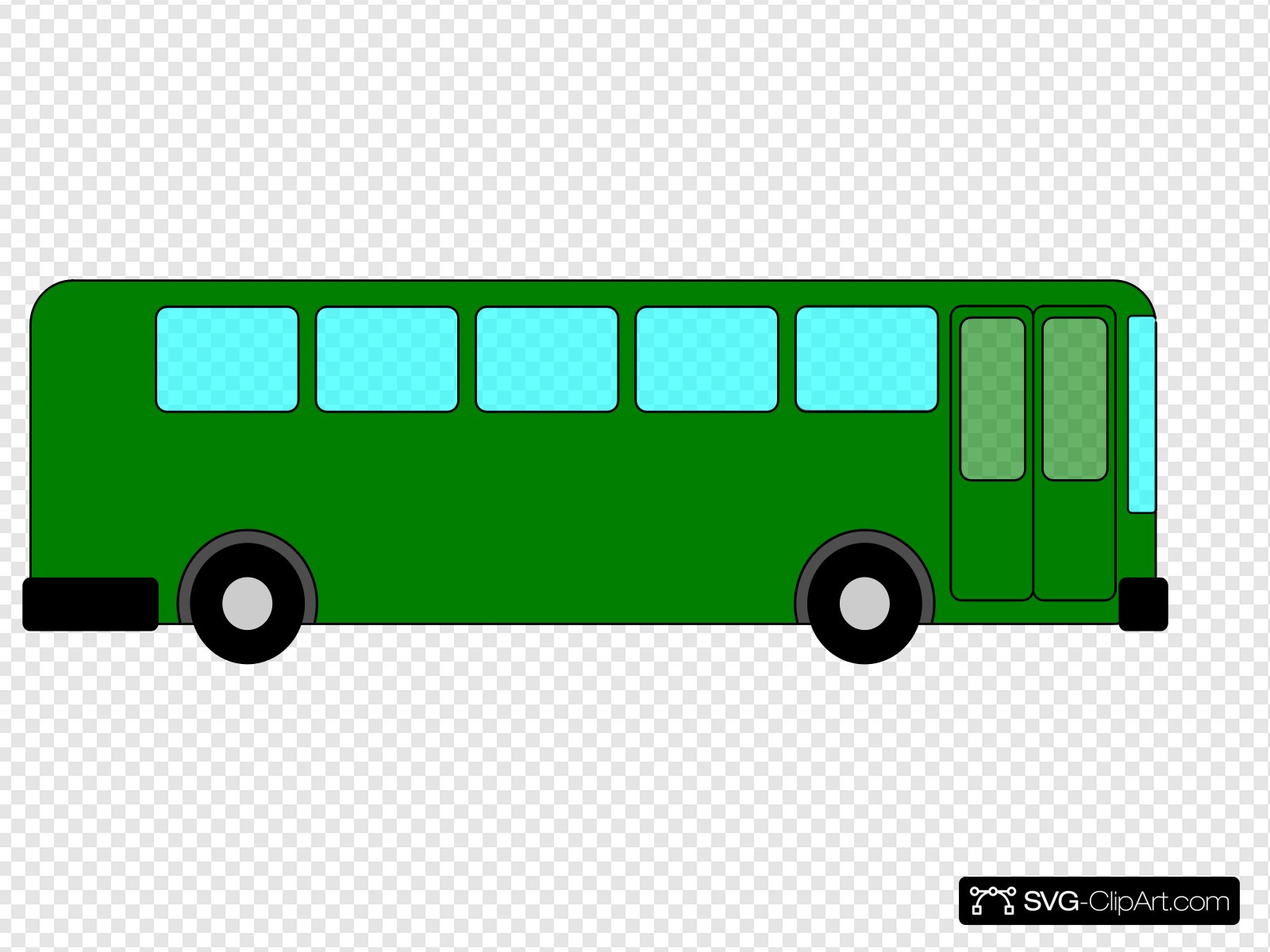 Green Bus Clip art, Icon and SVG.