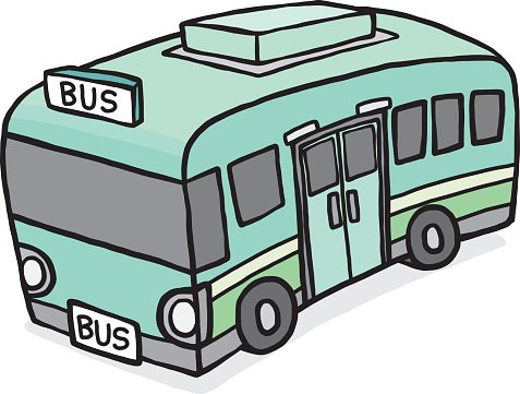 green bus Clipart Image.