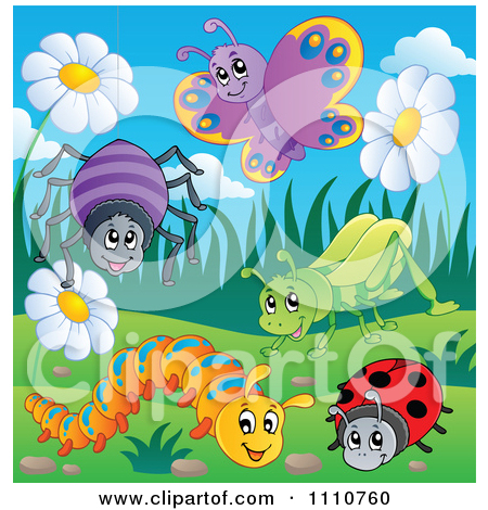 Clipart of a Black and White Happy Caterpillar with Letters on Its.