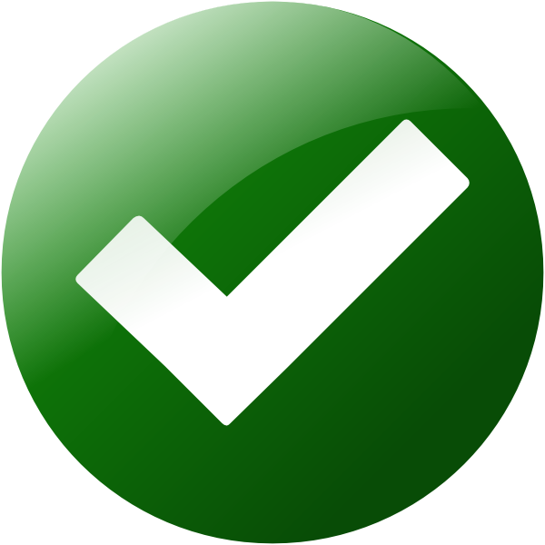 Simple Green Check Button Clip Art at Clker.com.