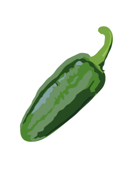 Green chile clip art.