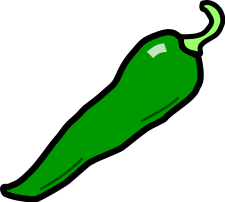 Green Chillies Clipart.
