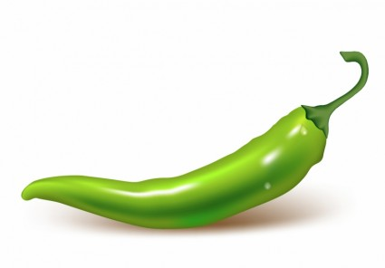 Green chili clipart.