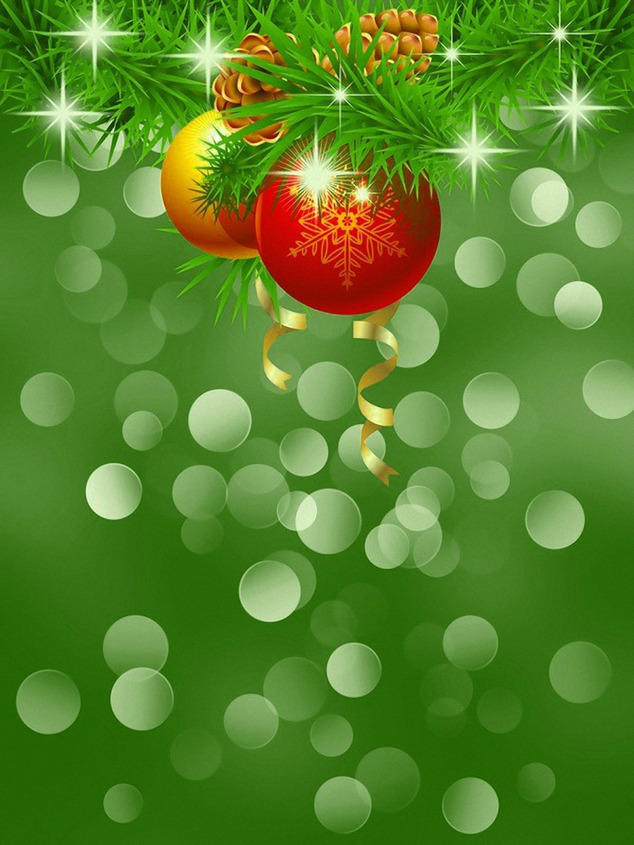 Christmas Green Background.