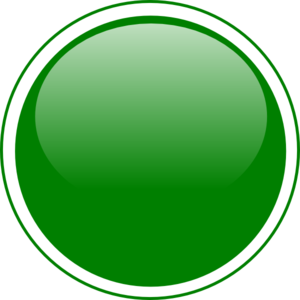 Glossy Green Circle Button PNG, SVG Clip art for Web.