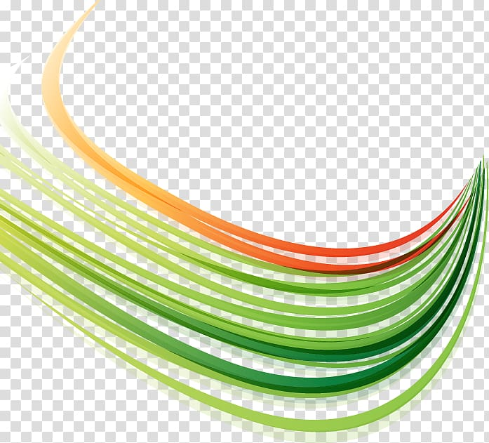 Green and orange illustration, Line, Colorful abstract lines.