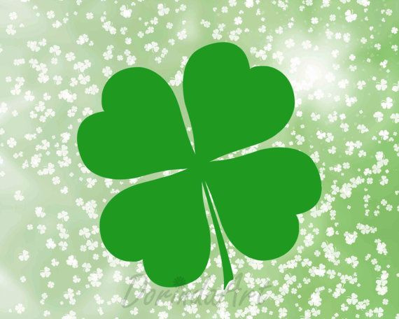 St Patrick\'s day printable Digital Green Clover by.