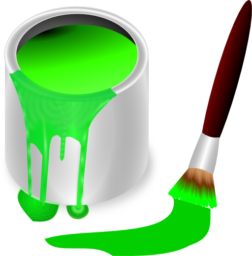 Color Bucket Green Clipart.