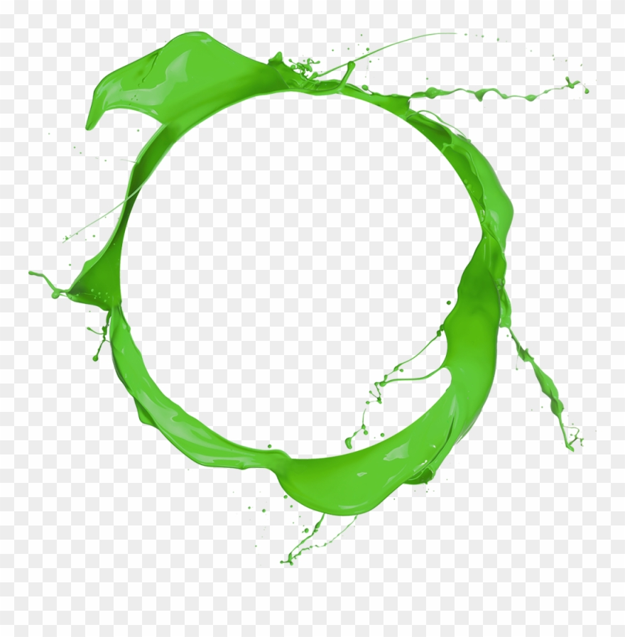 Green Paint Splatter Png For Kids.