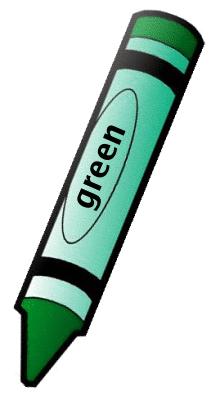 Crayon Green 1 Clipart.