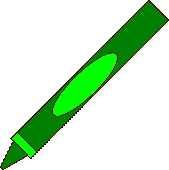 Green crayon clipart 2.