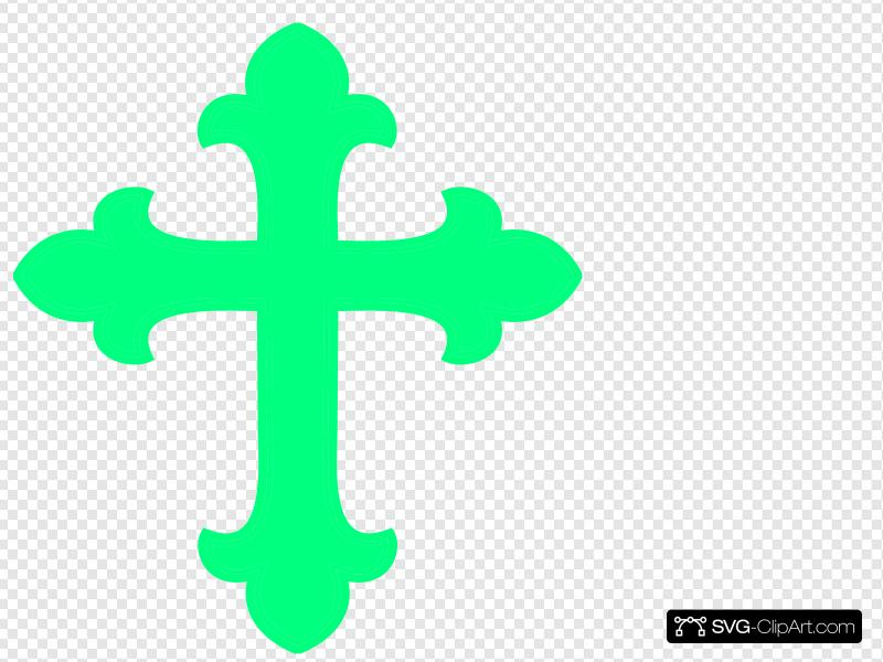 Mint Green Cross Clip art, Icon and SVG.