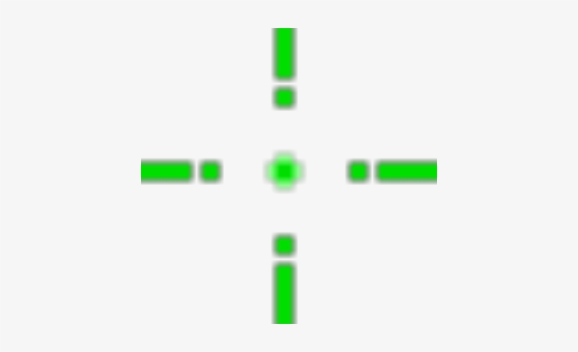 Green Crosshair Png Graphic Download.