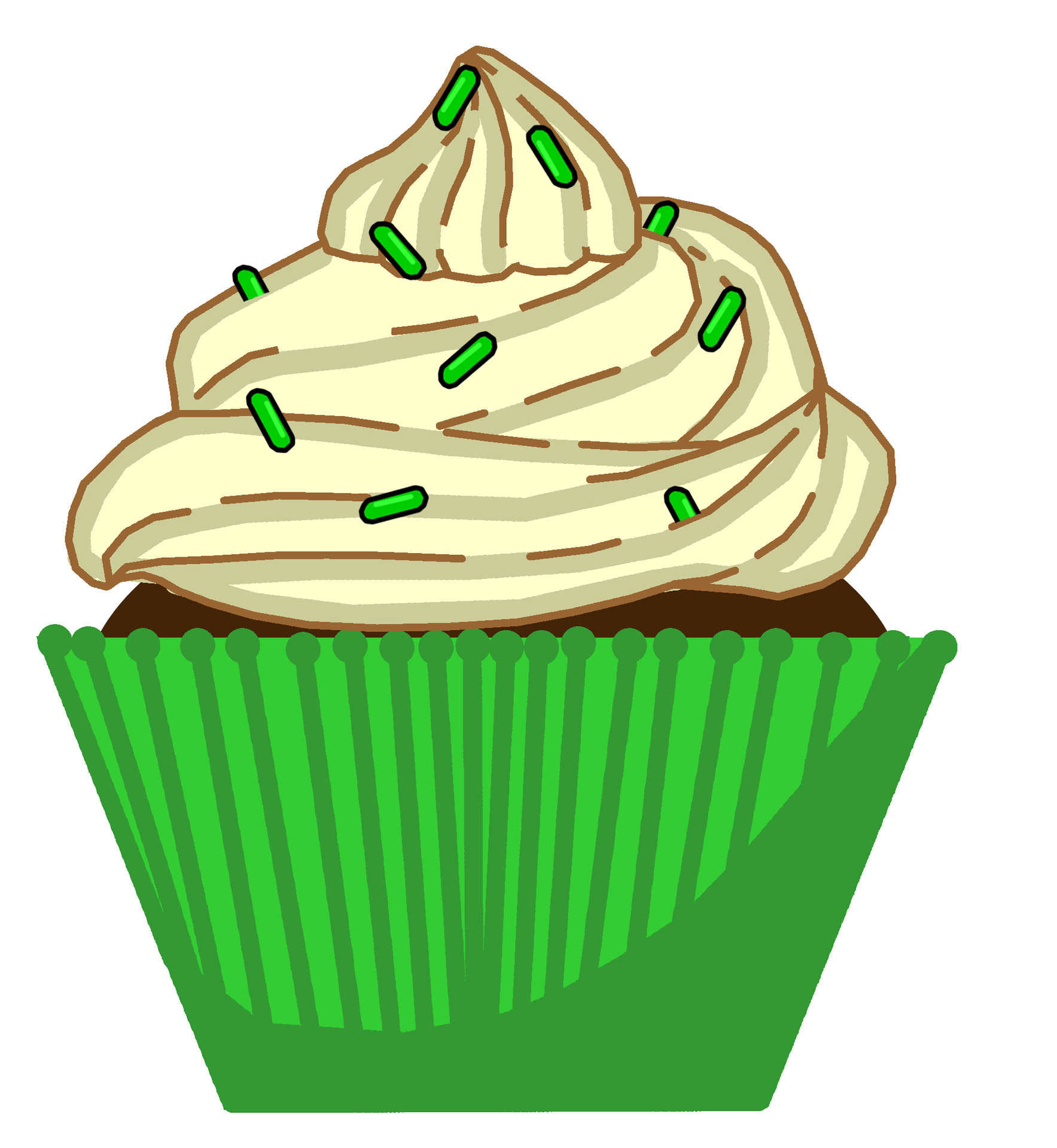 Green Mint Cupcake Free Stock Photo.