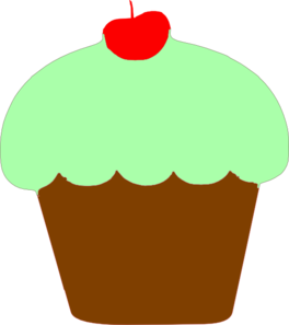 Mint Cupcake Clip Art at Clker.com.