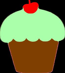 Mint Cupcake Clip Art at Clker.com.