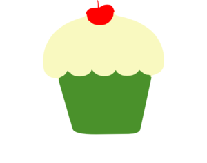 Green Cupcake Clip Art at Clker.com.