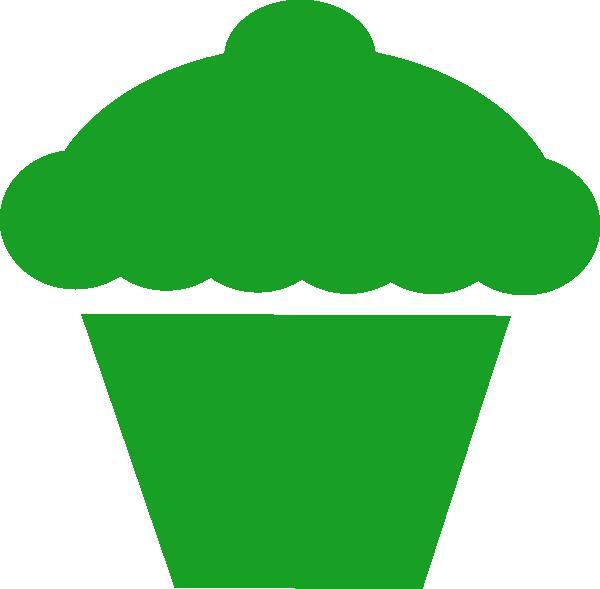 Green Cupcake Clip Art at Clker.com.