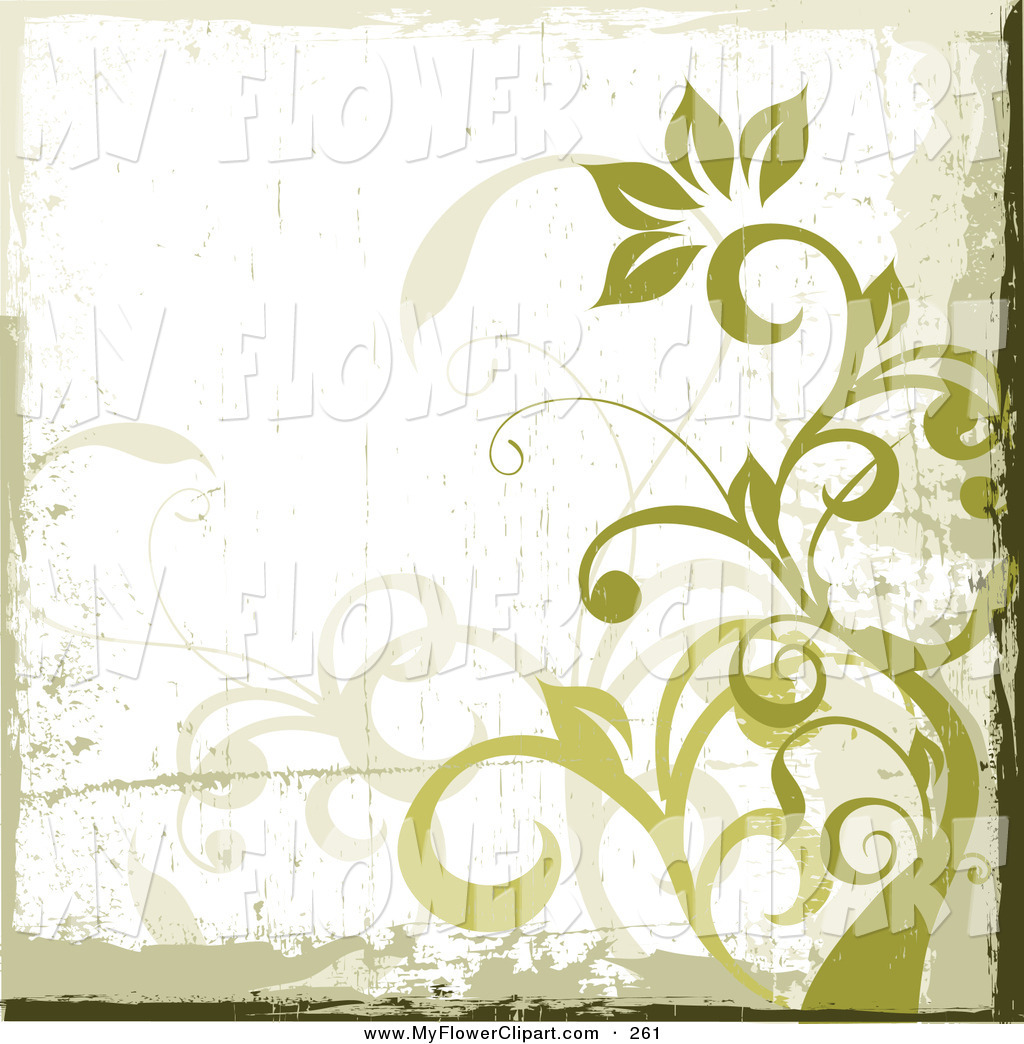 Royalty Free Green Background Stock Flower Designs.