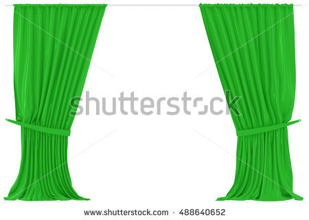 Green Curtain Isolated Stock Photos, Royalty.