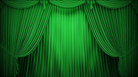 Green Curtain Theater Stock Illustrations.