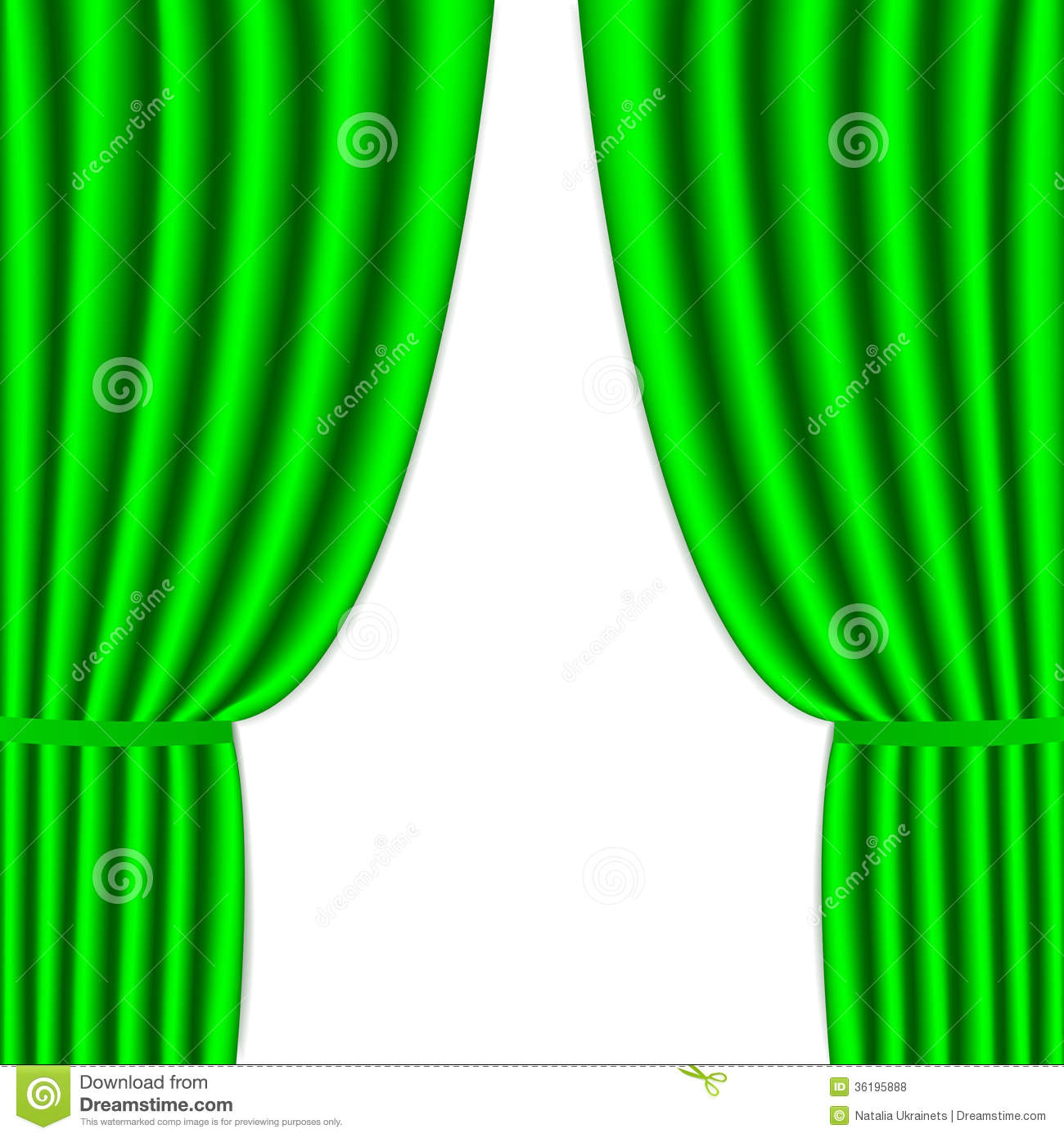 Clipart green curtains.