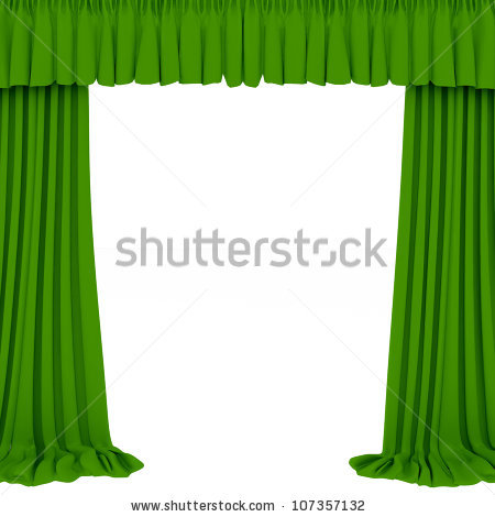 Green Show Theater Curtain Place Your Stock Vector 138970406.