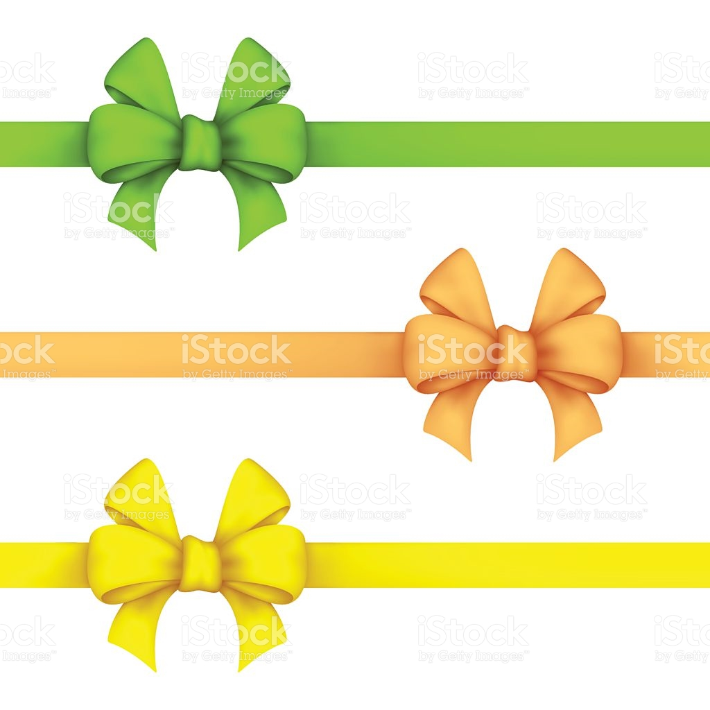 Green Daffodil And Yellow Gift Bows stock vector art 507148284.