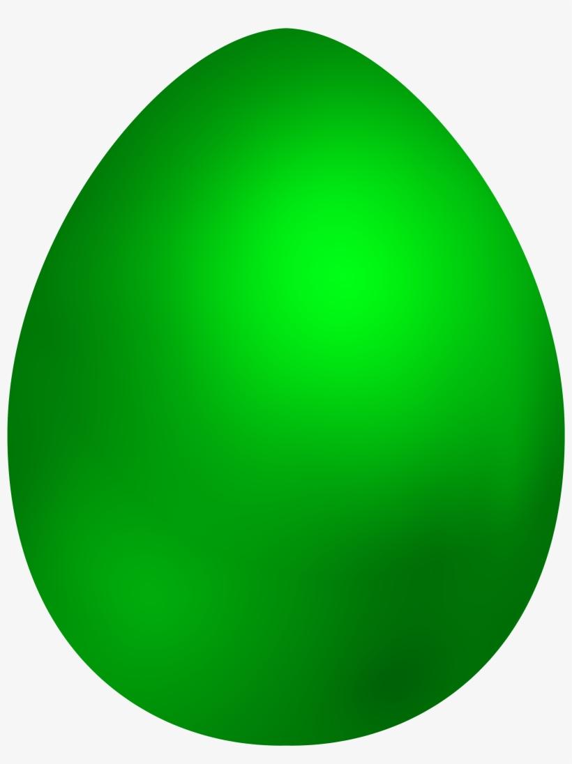 Green Easter Egg Png Clip Art PNG Image.