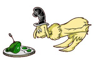 Green eggs and ham characters clipart clipartfest.