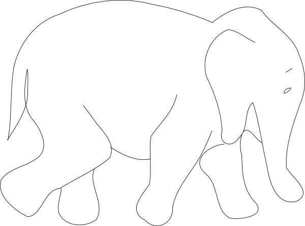 25+ best ideas about Elephant Outline on Pinterest.