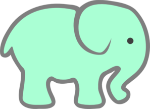 Green Baby Elephant Clip Art at Clker.com.