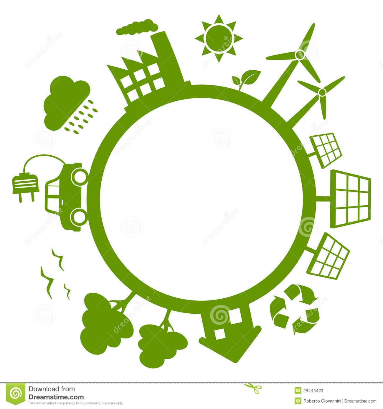 Green energy clipart.