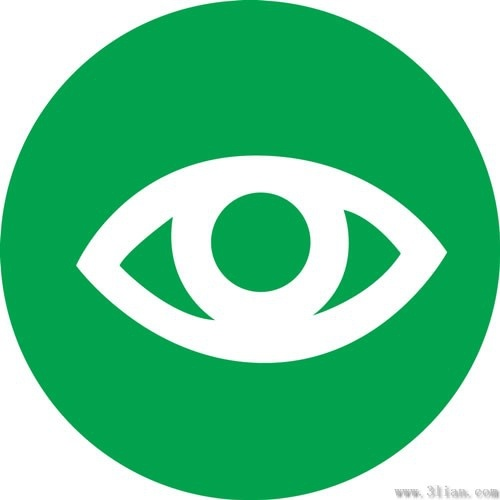 Vector green background eye icon Free vector in Adobe.