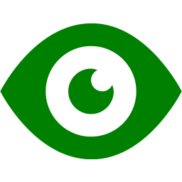 Green eye 2 icon.