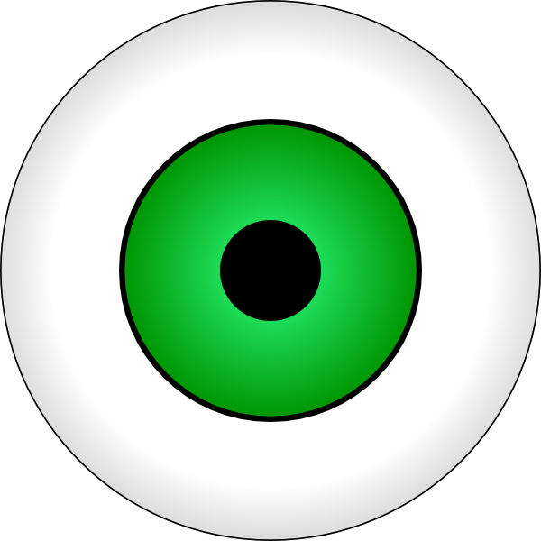 Green eyed monster clipart.