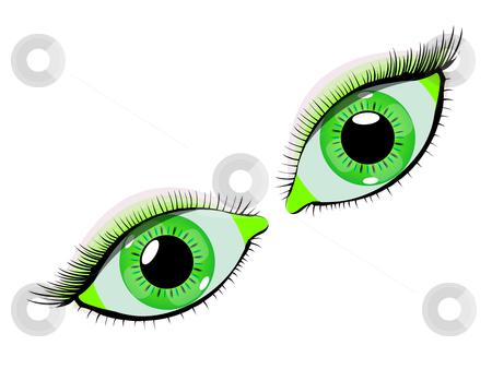 xarogije: green eyes clipart.