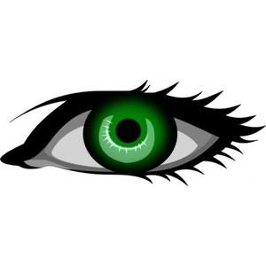 Green eye clipart.
