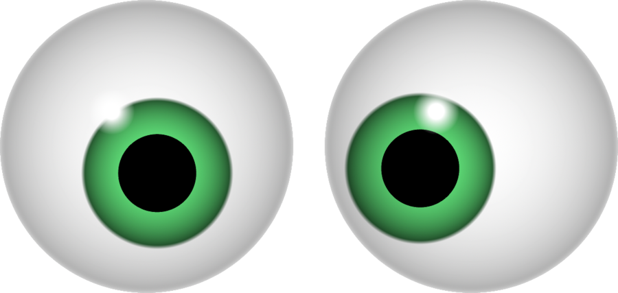 Green eyes clipart.
