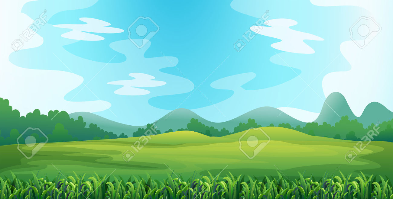 Illustration Of A Green Field Royalty Free Cliparts, Vectors, And.