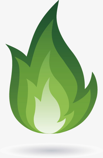Green Flame Clipart.