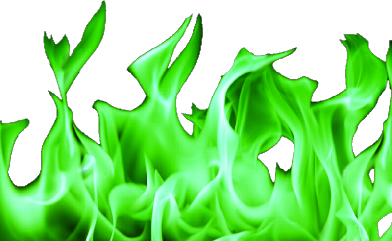 Green Fire Png Flames With No Background.