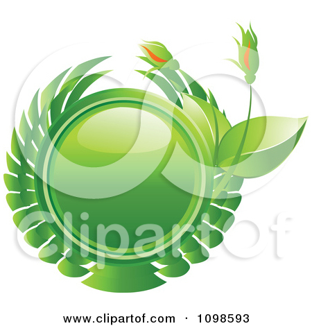 Clipart Leaf Butterflies With Green And Eco Flower Bud Words.