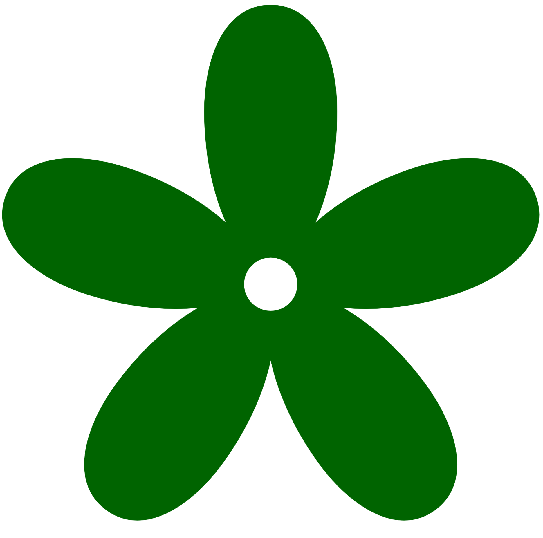 Green flower clipart - Clipground