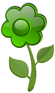 Flower Green Clipart, vector clip art online, royalty free design.