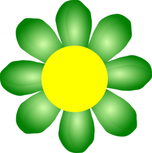 Green Flower Clip Art.