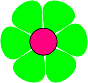 Lime Green Flower Clipart.